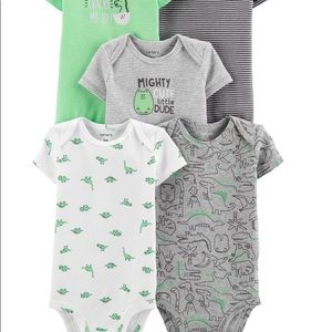 BNWT Carter's 5 Pack - Dinosaur NEW BORN
